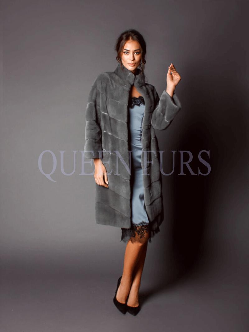легкое и элегантное пальто итальянского дизайнера - Шуба, норка, купить в Москве