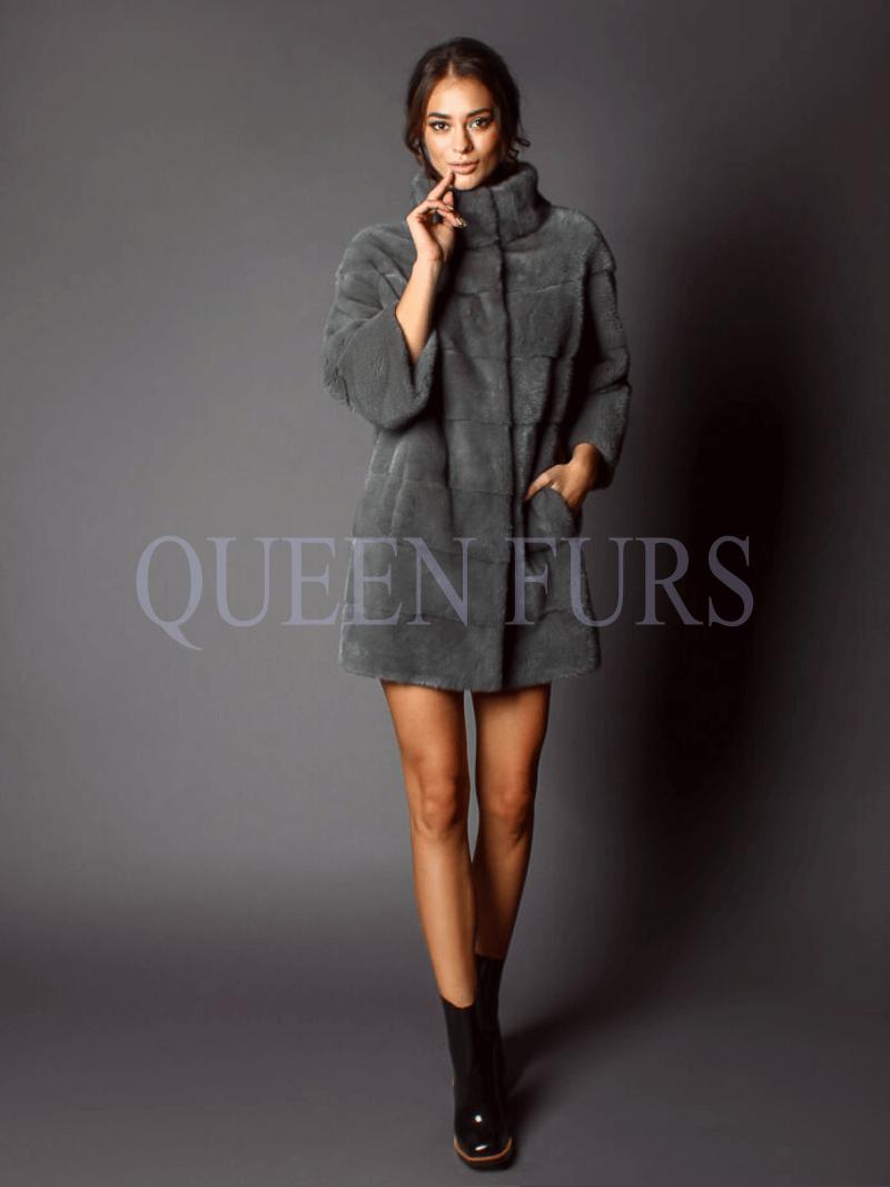 Брендовое пальто из аукционной норки, норка, купить в Москве