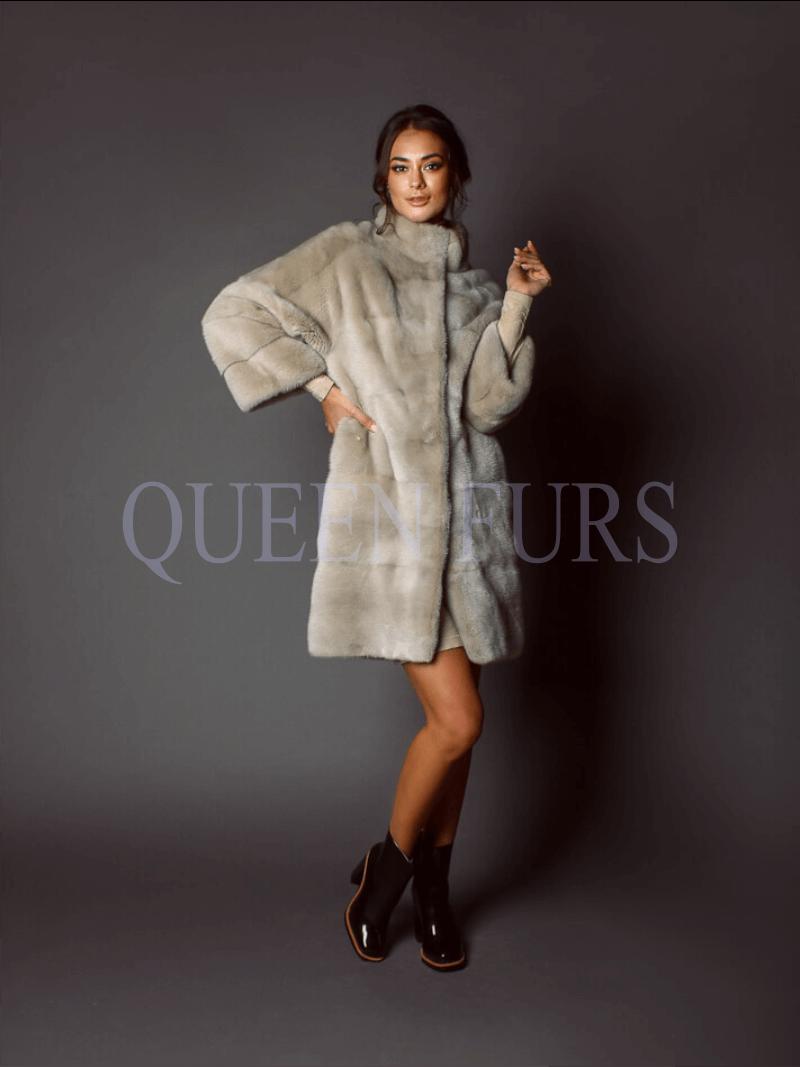 Модная шубаиз меха норки, купить в Москве