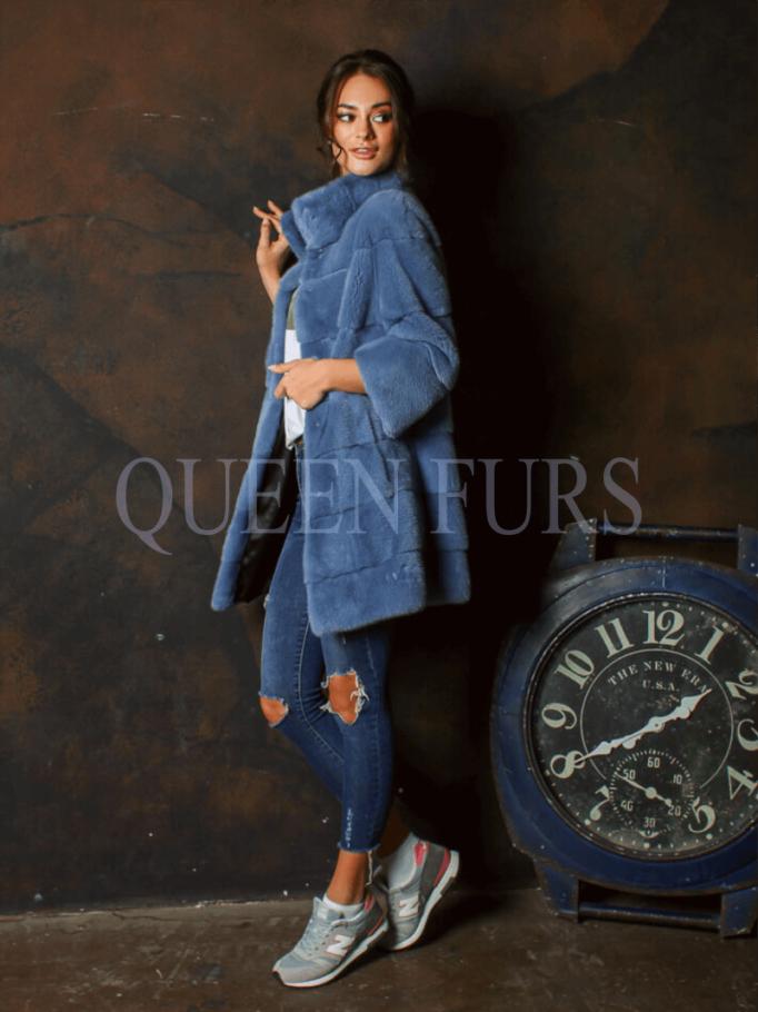Стильное полупальто из меха норки в Москве | QueenFurs
