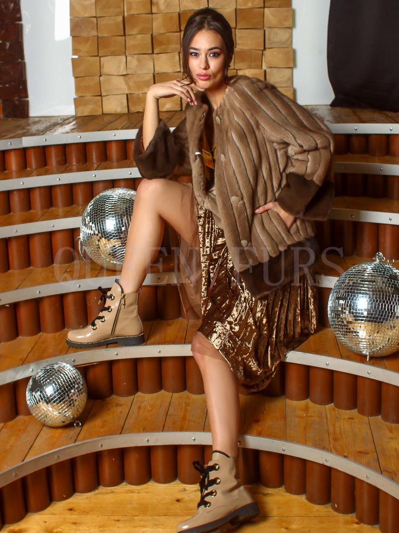 Жакет из меха норки бренда Nevris 65 см, модель 0340