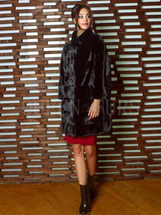 Жакет из норки в поперечной раскладке - купить в Москве