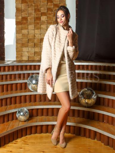 Полупальто из меха норки бренда Pajaro 90 см, модель 0974