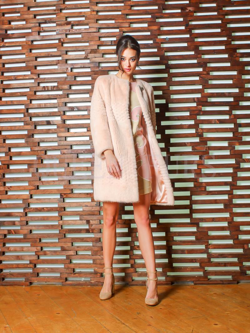 Полупальто из меха норки бренда Pajaro 90 см, модель 1174