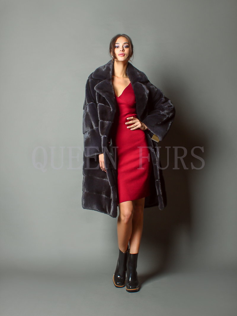 Стильное пальто из меха норки Kopenhagen Fur - купить в Москве