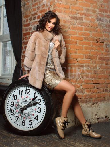 Жакет из меха норки бренда Braschi 70 см, модель 0231