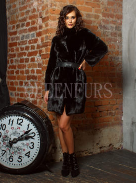 Шуба из меха норки бренда Romagna Furs 100 см, модель 0870