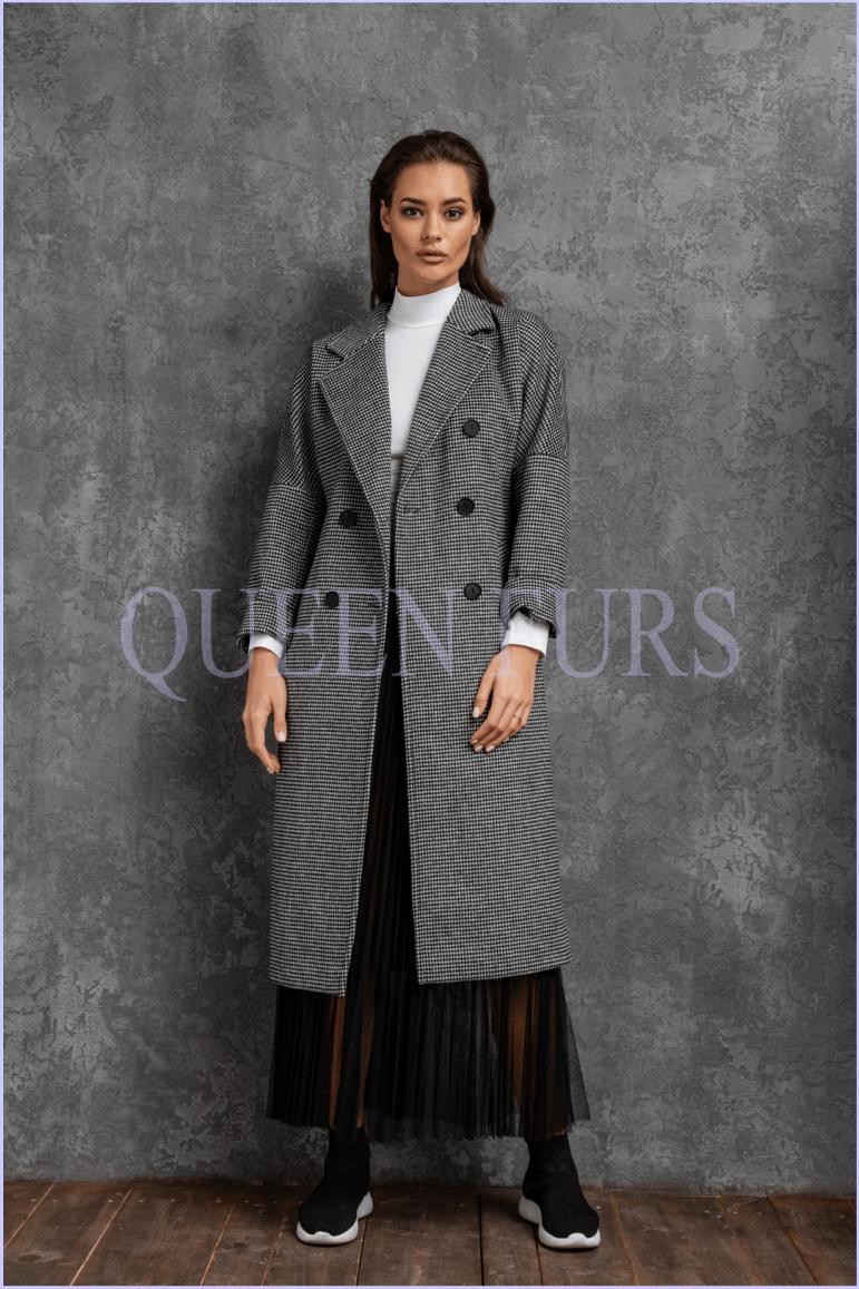 Двухбортное классическое пальто