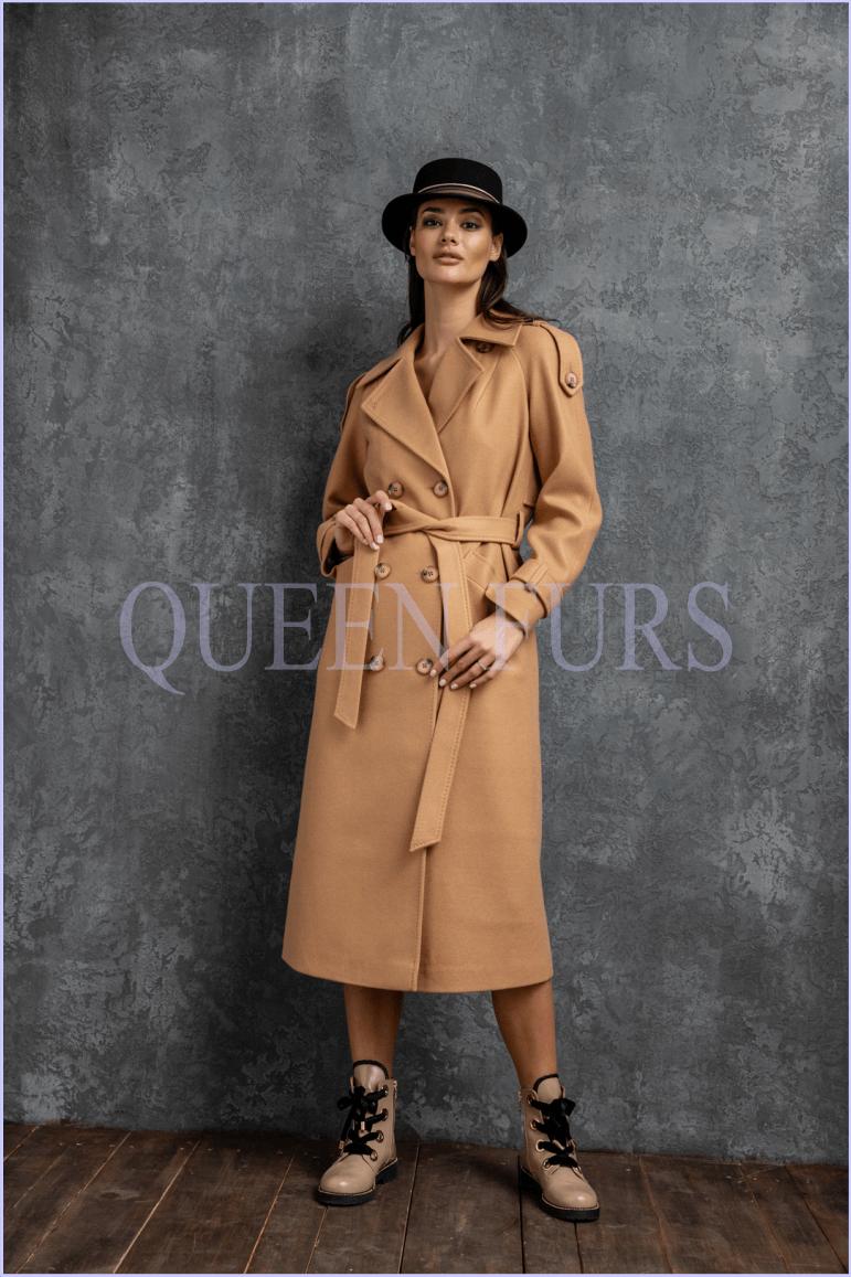 Итальянское пальто в стиле милитари