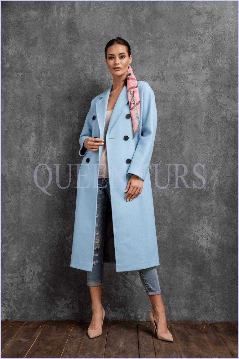 Пальто в стиле милитари из шерсти
