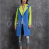 Пальто в стиле поп-арт, 100 см, модель П-38