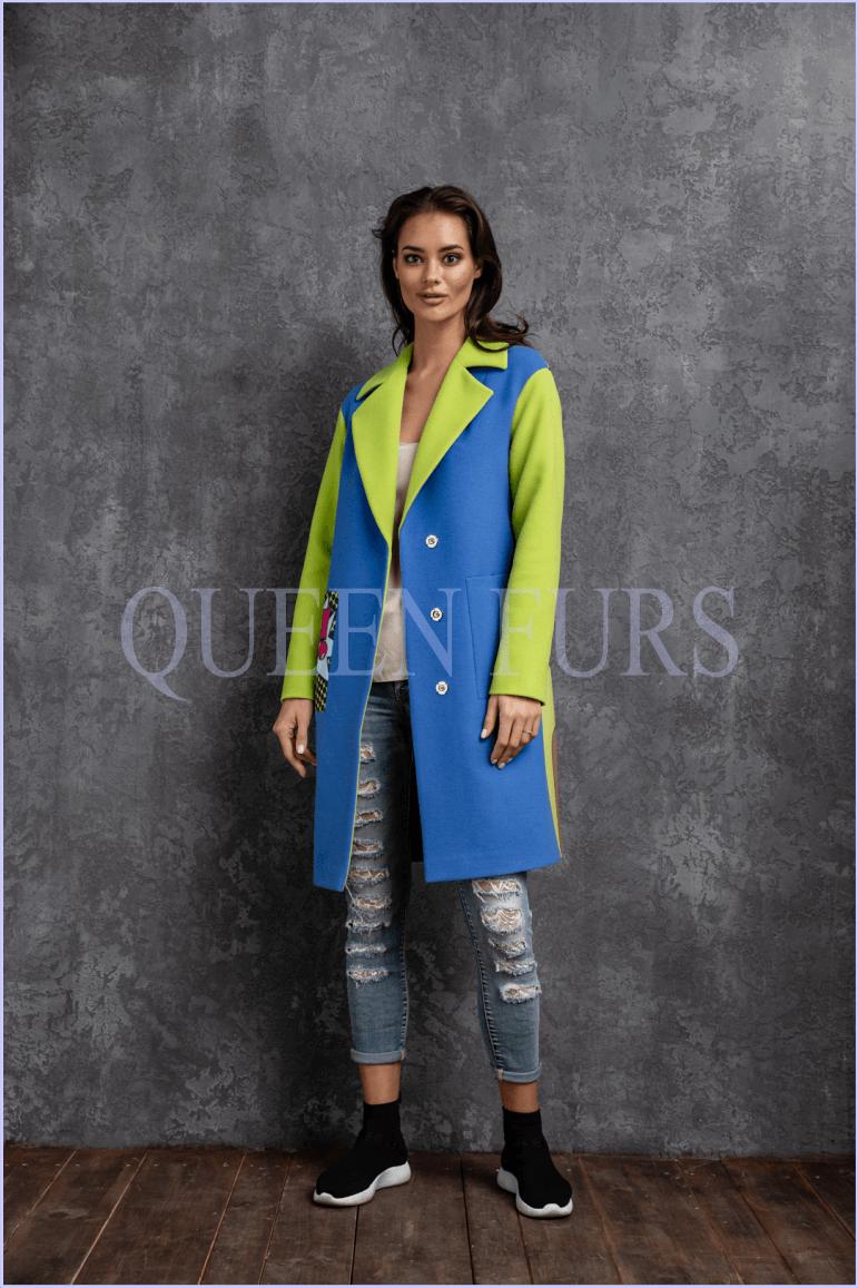 Пальто в стиле поп-арт