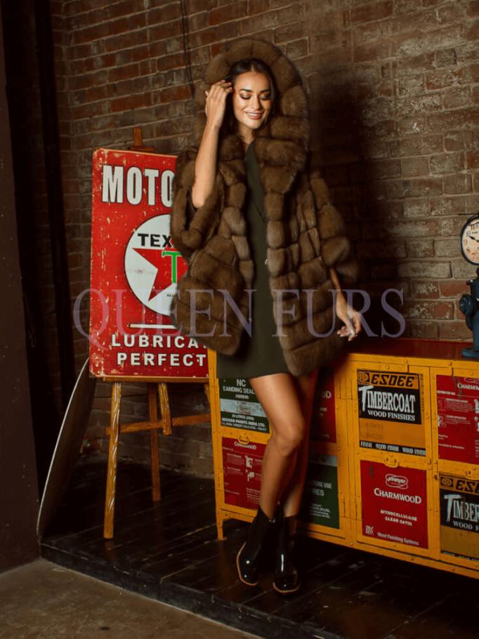 Жакет, соболь, купить в Москве