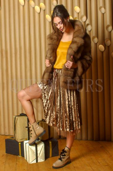 Жакет из меха соболя - купить в Москве