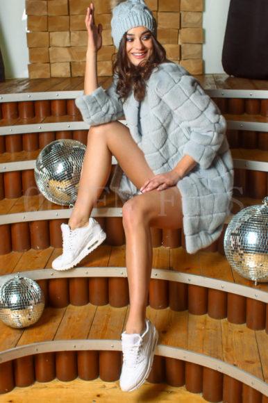Полупальто из меха норки - купить в Москве