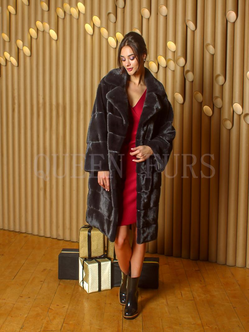 Шуба из меха норки - купить в Москве
